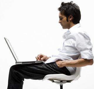 presbytie ordinateur portable position