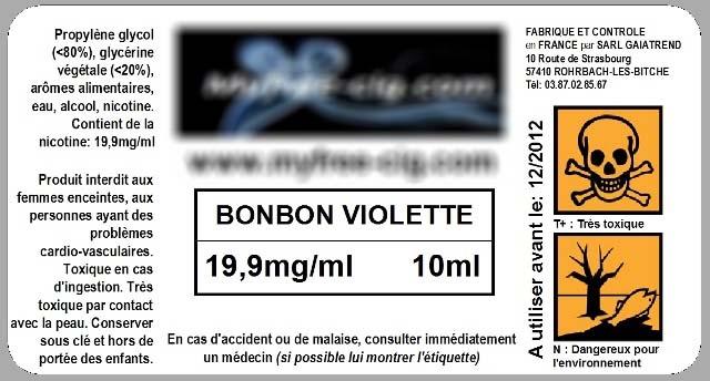 étiquette e-cig