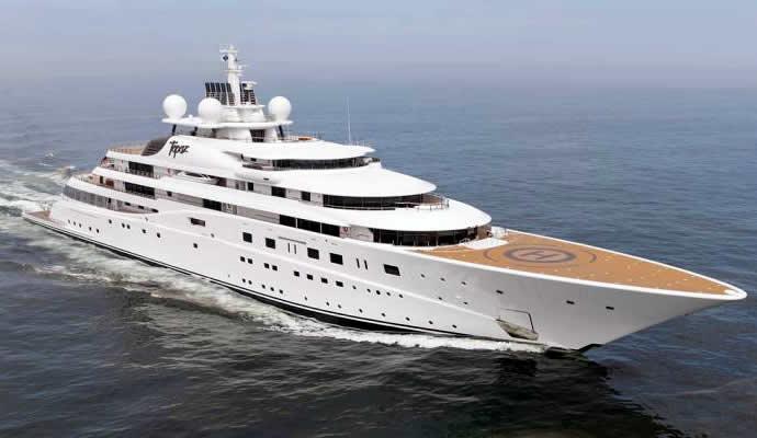 topaz yacht dicaprio