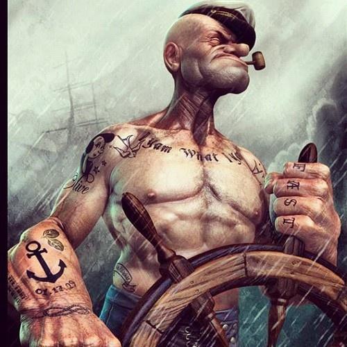 popeye tatouage