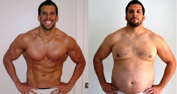 régime homme avant après