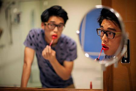 rouge à lèvre homme