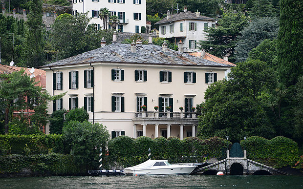 george clooney villa en italie