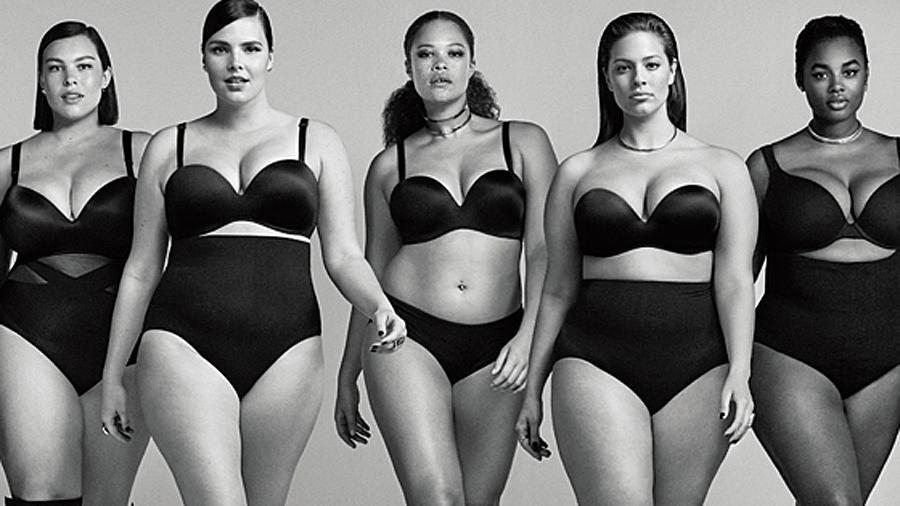 publicté plus size lingerie