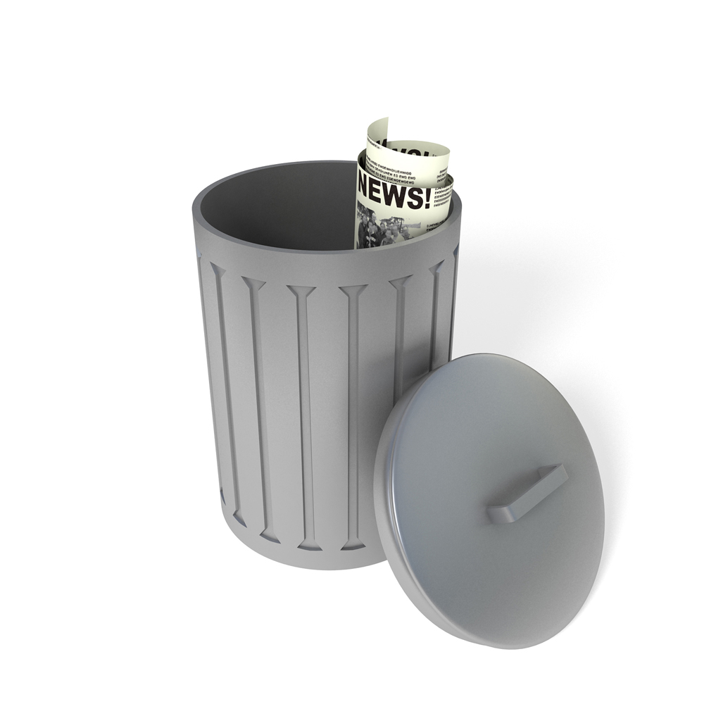 lemonde journal poubelle
