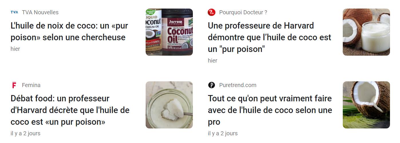 huile de coco poison